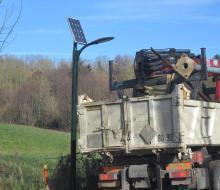 Eclairage public abribus solaire