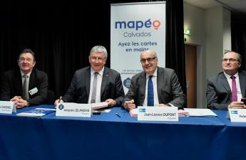 Présentation de Mapéo Calvados, le nouveau service d'information géographique mutualisé dans le Calvados