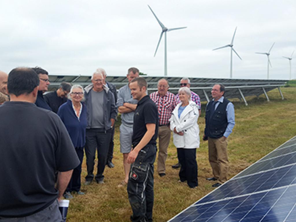 Visite du parc photovoltaïque au sol de Veules-les-Roses (76) le mardi 4 juillet 2017