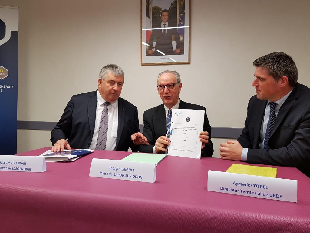 Délégation de service public : le gaz naturel arrive à BARON-SUR-ODON, présentation du projet de desserte le 12 mars 2018