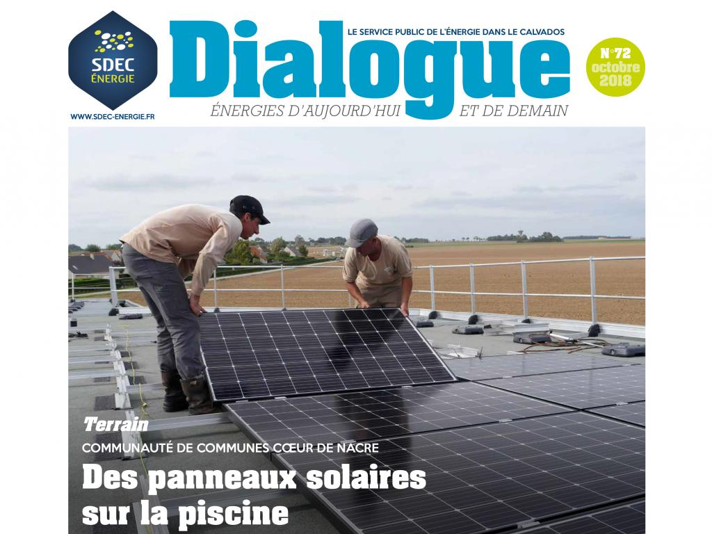 Journal d'information DIALOGUE n° 72 du SDEC ENERGIE (octobre 2018)