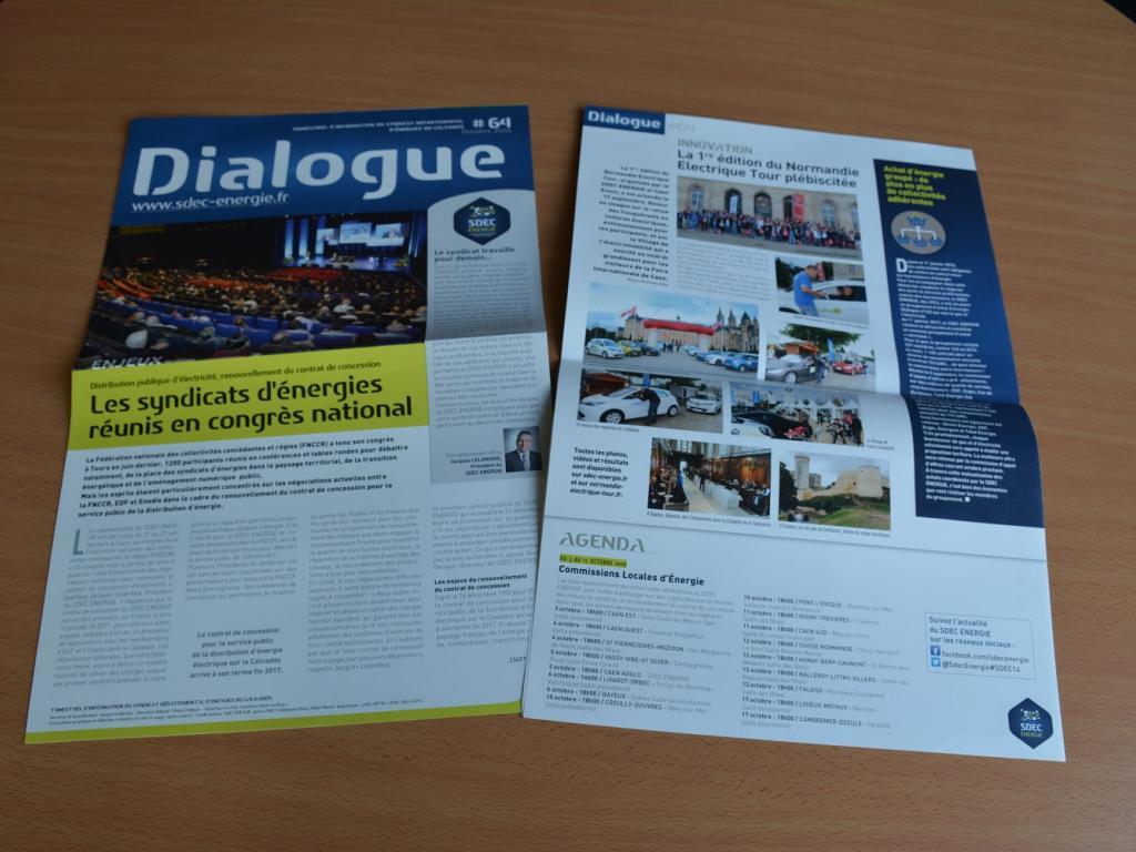 Journal d'information Dialogue n° 64 - Octobre 2016