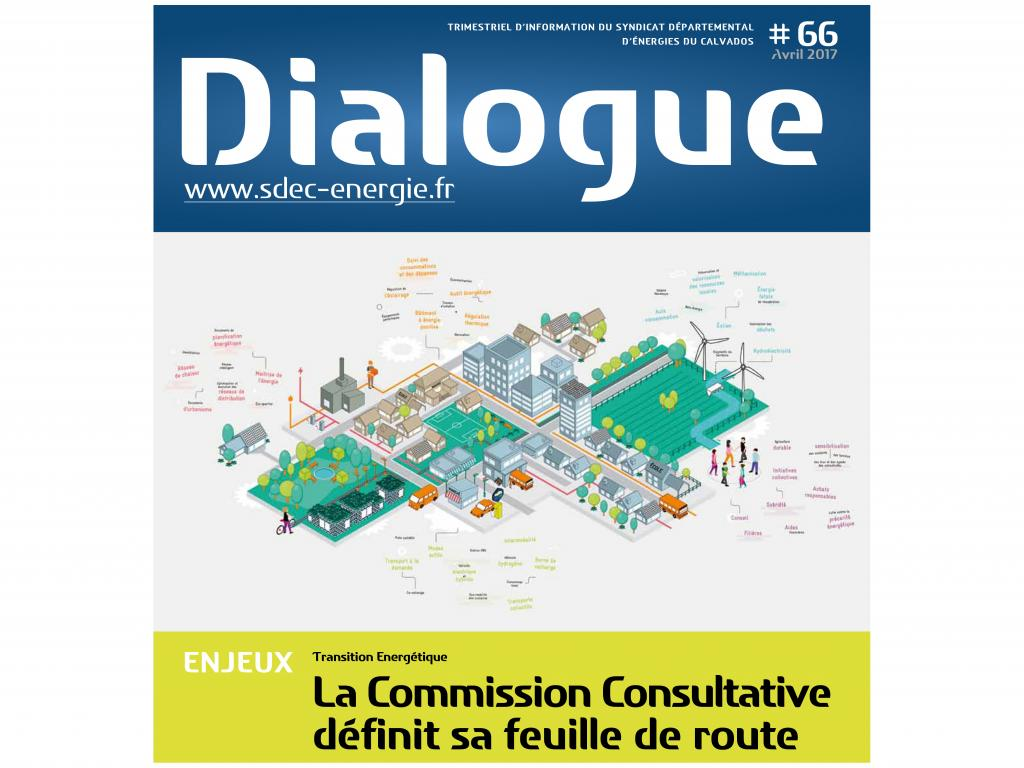 Journal d'information DIALOGUE n° 66 du SDEC ENERGIE - Avril 2017