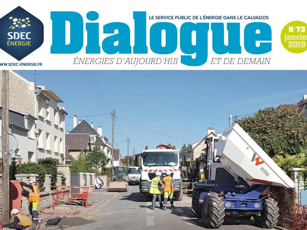 Journal d'information DIALOGUE n° 73 du SDEC ENERGIE (janvier 2019)