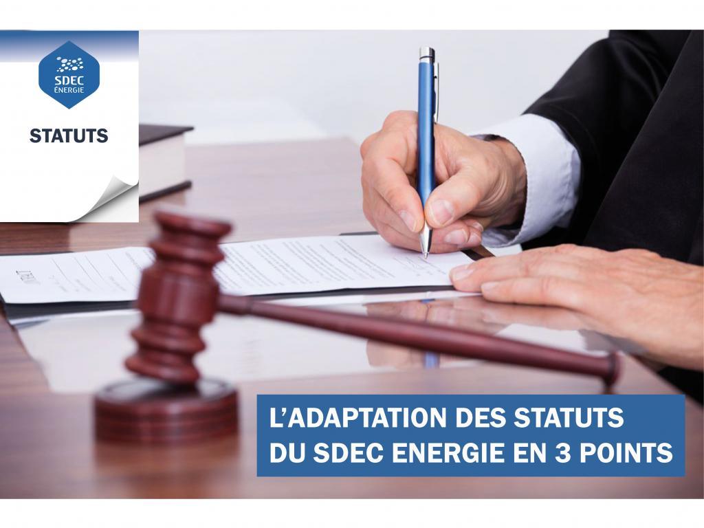 Adaptation des statuts du SDEC ENERGIE (mars 2019)