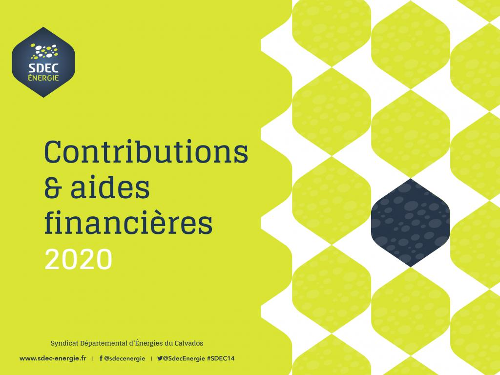Contributions et aides financières 2020