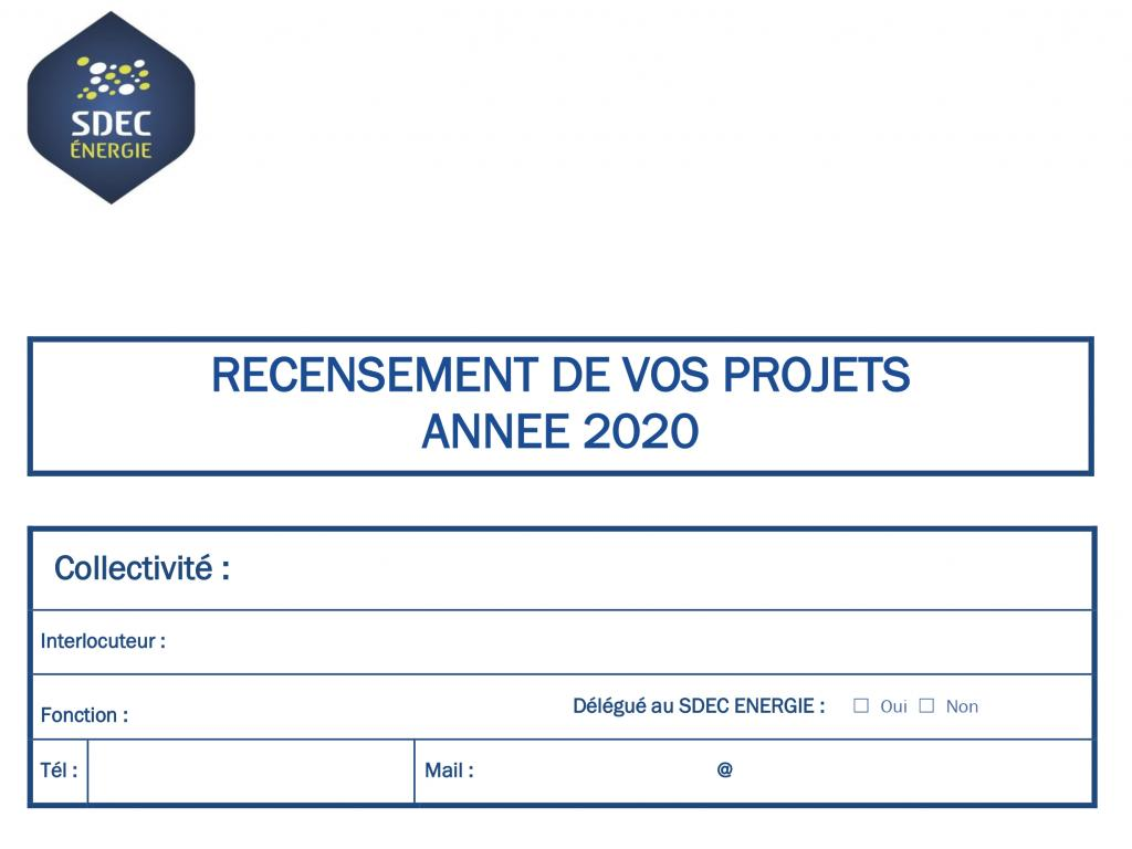 [QUESTIONNAIRE ELUS] Complétez le recensement de vos projets 2020