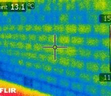 Résultat caméra infrarouge : défauts d'isolation
