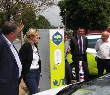 Inauguration de la borne de recharge MobiSDEC à Vire