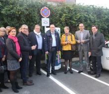. Isigny-sur-Mer : inauguration de la borne MobiSDEC parking du Carrefour le 26 octobre 2016