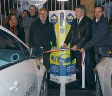 . Hermanville-sur-Mer : inauguration de la borne MobiSDEC devant la Mairie le 7 novembre 2016