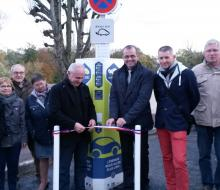 . Tilly-sur-Seulles : inauguration de la borne MobiSDEC rue du Stade le 9 novembre 2016