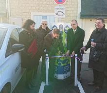 Villers-Bocage : inauguration de la borne MobiSDEC rue des Halles le 25 janvier 2017