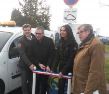 La Vespière-Friardel : inauguration de la borne MobiSDEC rue du Commerce le 27 janvier 2017