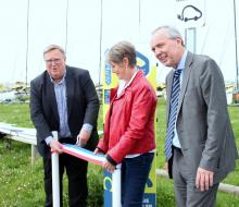 Inauguration de la borne MobiSDEC à Colleville-sur-Mer le 19 mai 2017