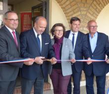 18 mai 2018 - Inauguration du Point Info 14 à Merville-Franceville (source Le Pays d'Auge)