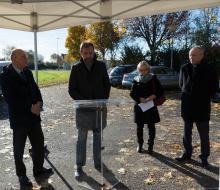 [MOBILITE DURABLE] Inauguration de la borne de recharge rapide MobiSDEC à Falaise le 14 novembre