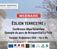 """Suite réunion du 18 décembre """"Eolien terrrestre : conférence départementale / exemple du parc de Bricqueville-La Folie"""""""