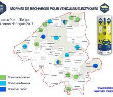 Cartographie bornes MobiSDEC sur le secteur de Pont-l'Evêque