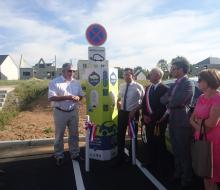 Inauguration de la borne MobiSDEC à Colomby-Anguerny le 26 juin 2017