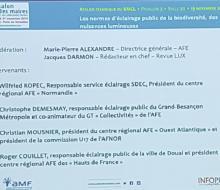 [ECLAIRAGE PUBLIC] Le SDEC ENERGIE a participé à la table ronde AFE sur les normes d'éclairage de la biodiversité, les nuisances lumineuses au Salon des Maires le 19 novembre 2019