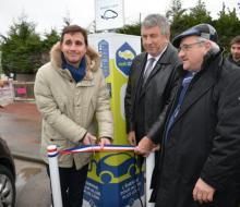1er mars 2016 : inauguration de la borne MobiSDEC pour véhicules électriques à Ouistreham