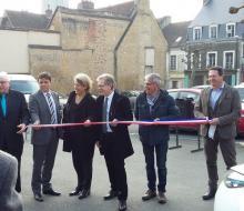 18 mars 2016 : inauguration de la borne MobiSDEC pour véhicules électriques