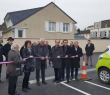 24 février 2016 : inauguration de la borne MobiSDEC pour véhicules électriques à Bretteville-sur-Laize