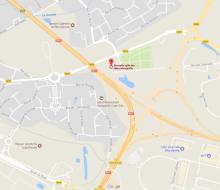 . Plan d'accès à la salle des fêtes de Mondeville
