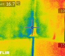Résultat caméra infrarouge : humidité