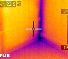 Résultat caméra infrarouge : ponts thermiques