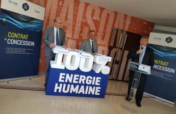 29 juin 2018 : signature du Nouveau contrat de concession électricité avec Enedis et EDF pour 30 ans