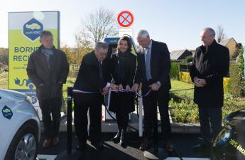 [MOBILITE DURABLE] Inauguration de la borne de recharge rapide MobiSDEC à Pont-l'Evêque le 8 novembre 2018