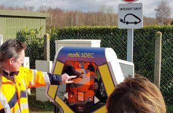 [MOBILITE DURABLE] Inauguration de la borne de recharge rapide MobiSDEC à Mondeville le 7 mars