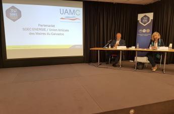 Signature de la convention de partenariat avec l'Union Amicale des Maires du Calvados le 24 juin 2021