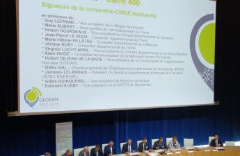 Signature de l'avenant 2 à la convention CRIGE Normandie