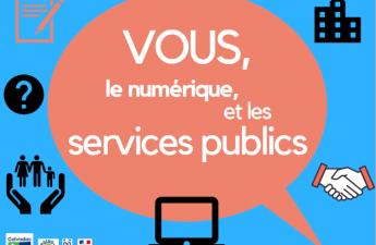 """Affiche enquête publique """"Vous, le numérique et les services publics"""""""