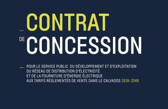 Nouveau contrat de concession électricité 2018-2048 (juillet 2018)